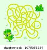 help vegan character find path... | Shutterstock .eps vector #1075058384