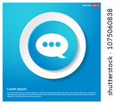 speech bubble icon abstract... | Shutterstock .eps vector #1075060838