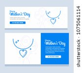 happy mother day  holiday... | Shutterstock .eps vector #1075061114