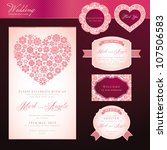wedding invitation card and... | Shutterstock .eps vector #107506583