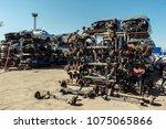 disassembled car stock piles of ... | Shutterstock . vector #1075065866