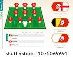 tunisia football team... | Shutterstock .eps vector #1075066964