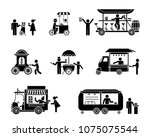 street sellers and market... | Shutterstock .eps vector #1075075544