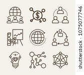 networking outline vector icon... | Shutterstock .eps vector #1075077746