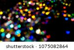 bokeh lights for party  holiday ... | Shutterstock . vector #1075082864