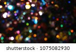 bokeh lights for party  holiday ... | Shutterstock . vector #1075082930