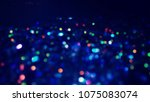 bokeh lights for party  holiday ... | Shutterstock . vector #1075083074