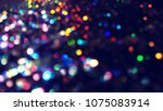 bokeh lights for party  holiday ... | Shutterstock . vector #1075083914