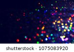 bokeh lights for party  holiday ... | Shutterstock . vector #1075083920
