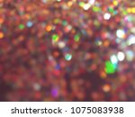 bokeh lights for party  holiday ... | Shutterstock . vector #1075083938