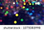 bokeh lights for party  holiday ... | Shutterstock . vector #1075083998
