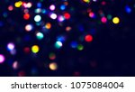 bokeh lights for party  holiday ... | Shutterstock . vector #1075084004