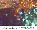 bokeh lights for party  holiday ... | Shutterstock . vector #1075084010