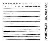 black brushpen hand drawn... | Shutterstock .eps vector #1075085420
