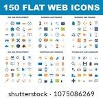 flat web icons | Shutterstock .eps vector #1075086269