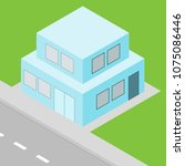 small house isometric view ...   Shutterstock .eps vector #1075086446