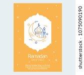 ramadan kareem vector... | Shutterstock .eps vector #1075090190