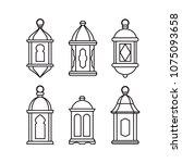 set of  traditional vintage... | Shutterstock .eps vector #1075093658