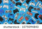 video game controller... | Shutterstock .eps vector #1075094843