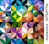 abstract geometric background...   Shutterstock .eps vector #1075097753