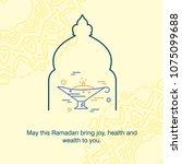 ramadan kareem vector... | Shutterstock .eps vector #1075099688