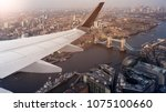 aerial panoramic cityscape view ... | Shutterstock . vector #1075100660