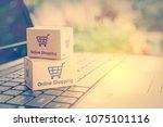 online shopping   retail... | Shutterstock . vector #1075101116