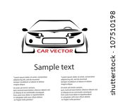 vector car icon. fast racing... | Shutterstock .eps vector #107510198