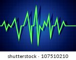 abstract heart beats cardiogram ... | Shutterstock .eps vector #107510210