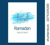ramadan kareem vector... | Shutterstock .eps vector #1075104200