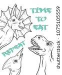 typography slogan with... | Shutterstock .eps vector #1075105559