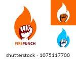 fire punch logo template design ... | Shutterstock .eps vector #1075117700