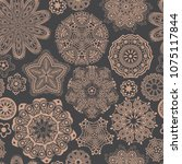 ornate floral seamless texture  ... | Shutterstock .eps vector #1075117844