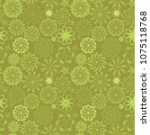 ornate floral seamless texture  ... | Shutterstock .eps vector #1075118768