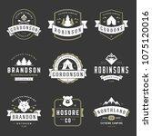 camping logos templates vector... | Shutterstock .eps vector #1075120016