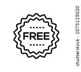 free sign   line design single...   Shutterstock .eps vector #1075125020