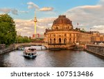 museum island on spree river... | Shutterstock . vector #107513486