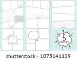set of comics panel background... | Shutterstock .eps vector #1075141139