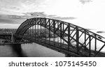 black and white sunset aerial... | Shutterstock . vector #1075145450