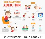 child smartphone addiction... | Shutterstock .eps vector #1075150574