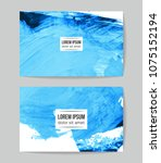 set of vector business card... | Shutterstock .eps vector #1075152194
