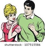 vintage illustration  isolated...   Shutterstock . vector #107515586