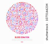 blood donation  charity  mutual ... | Shutterstock .eps vector #1075166234