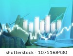 businessman on digital stock... | Shutterstock . vector #1075168430