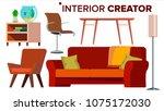 furniture creator vector.... | Shutterstock .eps vector #1075172030