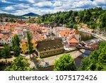 view of city cesky krumlov ... | Shutterstock . vector #1075172426