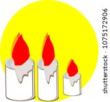 candles are lit  flames ... | Shutterstock .eps vector #1075172906