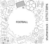 football background from line... | Shutterstock .eps vector #1075173896