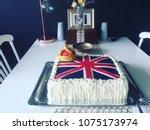 a celebration cake british... | Shutterstock . vector #1075173974