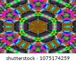 modern floral pattern. raster... | Shutterstock . vector #1075174259